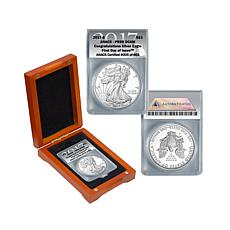 2017 S-Mint PR69 FDOI LE Congratulations Silver Eagle