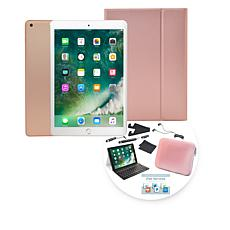 "2018 Apple iPad® 9.7"" 32GB Tablet w/Keyboard Case & Sleeve - Gold"
