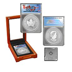 2018 MS70 ANACS FDOI Limited Edition Incused $5 Canada Maple Leaf Coin