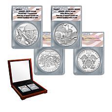 2018 PR70 FDOI World War I Centennial Silver Dollar and Navy Medal Set