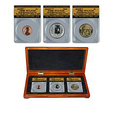 2018 RP70 S-Mint FDOI LE 756 Reverse Proof 3-Coin Set