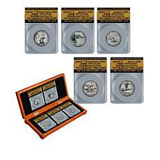 2018-S RP70 FDOI LE 599 America the Beautiful Set of 5 Silver Quarters