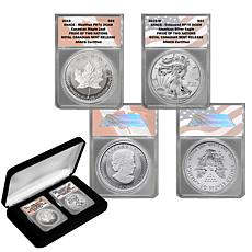"""2019 ANACS 70 Royal Canadian Mint Release """"Pride of 2 Nations"""" Set"""
