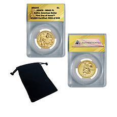 2019-D MS69 PL FDOI LE 648 Native American Dollar Coin