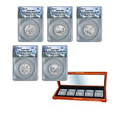 2019 MS67 ANACS West Point Mint National Parks 5-Quarter Set