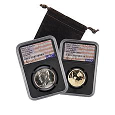 2019 MS67 JFK Half/PF70 Native American Dollar 2-Coin Rocketship Set