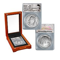 2019-P MS70 FDOI LE 1969 Apollo 11 50th Anniversary Silver Dollar Coin