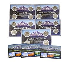 2019 PDS and W-Mint National Parks 20-Quarter Set