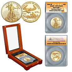 2019 PR70 ANACS First Day of Issue Limited Edition $10 Gold Eagle Coin