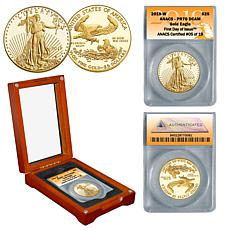 2019 PR70 ANACS First Day of Issue Limited Edition $25 Gold Eagle Coin