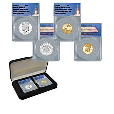 2019 SP69 PL JFK Half Dollar & PR70 Native American Dollar 2-Coin Set