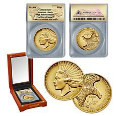 2019-W EU70 FDOI LE 54 American Liberty 24K Gold $100 Coin