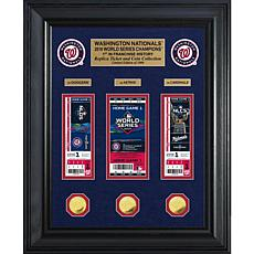 2019 World Series Champions Deluxe Gold-Plated Coin Ticket Collection