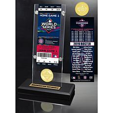 2019 World Series Champions Ticket and Bronze Coin Acrylic Display