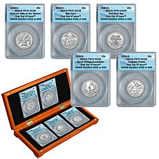 2020-S PR70 FDOI Limited Edition of 599 National Parks 5-Quarter Set