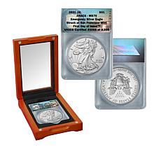 2021 MS70 FDOI LE 3,296 San Francisco Mint Emergency Silver Eagle Coin