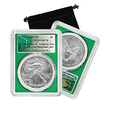 2021 MS70 from First 25 Boxes Philadelphia Mint Emergency Silver Eagle
