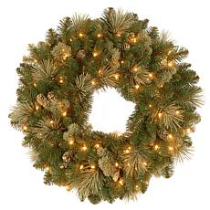 "24"" Carolina Pine Pre-Lit Wreath"