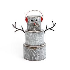 24-inch Metal Snowman Figurine