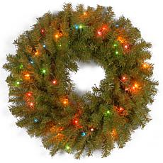 "24""  Norwood Fir Wreath w/Multicolor"