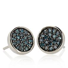 .25ctw Diamond Sterling Silver Stud Earrings