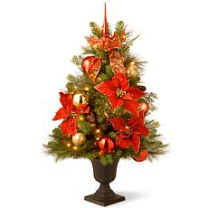 3 ft. Decorative Collection Home For the Holidays Entrance Tree wit...