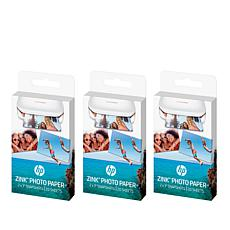 3-pack ZINK Photo Paper for HP Sprocket Photo Printers
