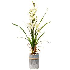 "30"" Garden Accents Artificial Potted Flower"
