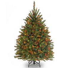 4-1/2' Dunhill Fir Hinged Tree w/Multicolor