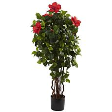 4 Ft. Hibiscus Tree x 7 branches with 406 Leaves