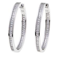 4.8ctw Absolute™ Baguette Channel Hoop Earrings