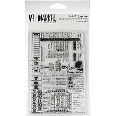 """49 And Market Clear Stamps 4"""" x 6"""" - Ticket Express"""
