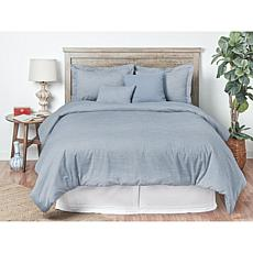 4pcs Oxford Stripes Comforter Twin Set