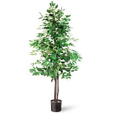 5' Artificial Potted Ficus Tree