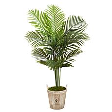 5 Ft. Paradise Palm Artificial Tree in Farmhouse Planter