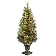 5 ft. Wispy Willow Grande Entrance Tree with Clear Lights