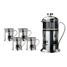 5-piece 18/10 Stainless Steel French Press and Cup Set