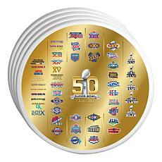 50 Years of the Super Bowl Super Bowl Logo Coasters 4pk