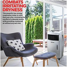 500 CFM Indoor/Outdoor Evaporative Air Cooler (Swamp Cooler) with R...