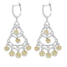 5.62ctw Absolute™ Round Stone Chandelier Earrings