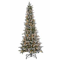 6-1/2' Lightly Flocked Canyon Fir Tree - 350 Clear Lights