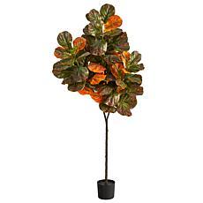 6' Autumn Fiddle Leaf Artificial Tree