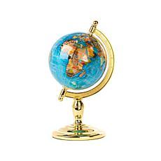 "6"" Inlaid Gemstone Turquoise-Color Globe"