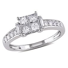 .64ctw White Diamond 14K  Princess & Multi-Cut Ring
