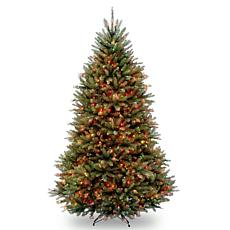 7-1/2' Dunhill Fir Hinged Tree w/Multicolor