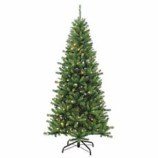 7-1/2' Remote Kingston Pine Tree - 250 Color-Changing LED Lights