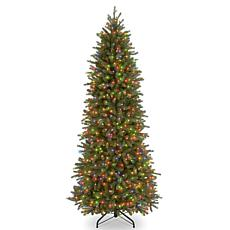 7-1/2'Jersey Fraser Pencil Slim Tree w/Multicolor