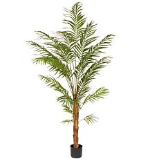 7' Artificial Potted Palm Tree
