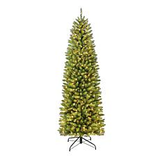 7.5' Franklin Fir Pencil Artificial Christmas Tree w/350 Clear Lights