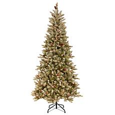 7.5 ft. Dunhill Fir Slim Tree with Clear Lights